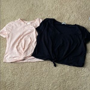 Black and pink crop tees by H&M size large